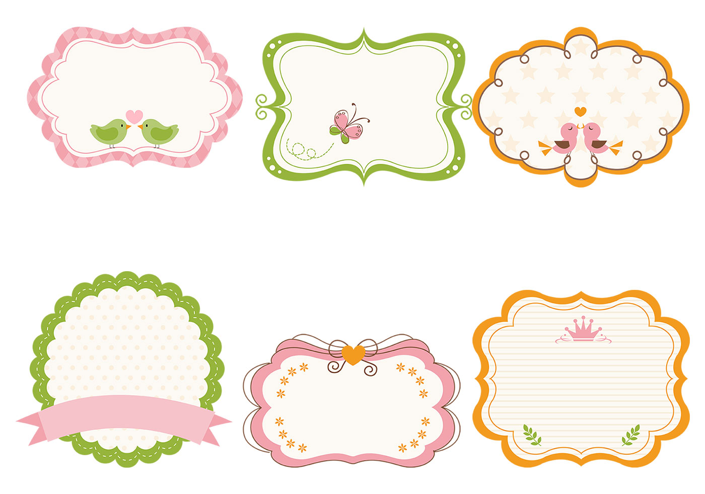 cute girly frame brushes and label brush pack free photoshop brushes at brusheezy