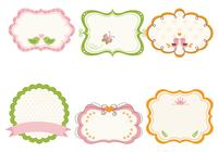 Cute Girly Frame Brushes e Label Brush Pack