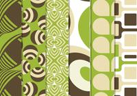 Grünes Retro Funky Pattern Pack