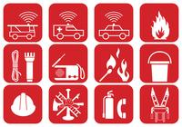 Fire Safety and Emergency Brush Icons