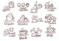Coffee Doodle Brushes Pack
