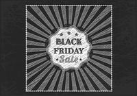 Chalk Drawn Black Friday Sale PSD