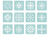 Pixel flocon de neige psd pack