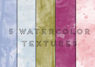 5 High Res Watercolor Texture Backgrounds JPEG