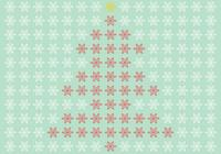 Snowflake Christmas Tree PSD en Snowflake Brush Pack