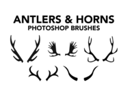 Antlers Brushes & Horns Pincéis Photoshop
