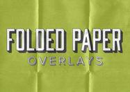 5 overlays in vouwde papierstructuur