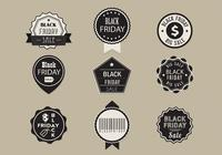 Brosses d'étiquettes de vente Black Friday et PSD Pack