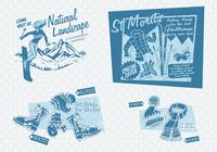 Vintage Winter Reclame PSD Pack