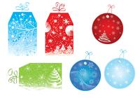 Bright Christmas Tag Brush Pack
