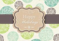 Grungy Snowflake Happy Holidays PSD Background