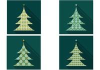 Retro Patterned Christmas Tree PSD Pack