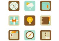 Flat Web and Mobile App PSD Icons