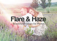 Beautiful Flare & Haze Texture sobreimpresiones