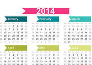 2014 Calendar Background - simple design
