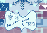Winter Hintergrund Digitales Papier Pack - Set von 18