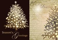Vintage Christmas Tree Greeting Background Pack