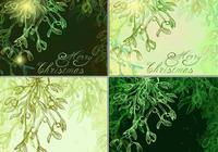 Glowing Mistletoe Backgrounds Pack