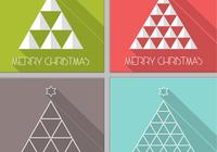 Long Shadow Christmas Tree PSD Pack