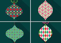 Retro Patterned Christmas Ornament PSDs