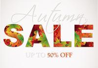 Herbst Verkauf PSD Hintergrund