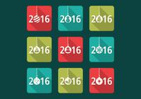 2016 Christmas PSD Icons Pack