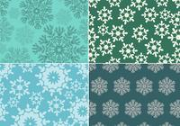 Seamless Snowflake Pattern Pack