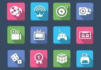 Multimedia and Games Icon PSD Pack
