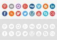 Rund social media icon psd pack