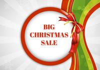 Big Christmas Sale PSD Background