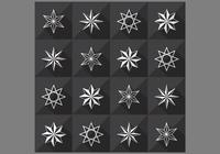Naadloos Star Pattern en PSD Pack
