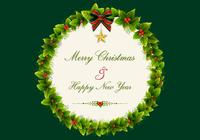 Christmas Holly Wreath PSD Background