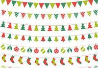 Paquete PSD de Bunting de Navidad