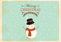 Retro Snowman PSD Wallpaper