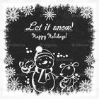 Chalk Drawn Holiday Snowman PSD Contexte