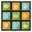Retro Christmas Ornament PSD Icons Pack