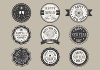 Happy New Year Label PSD Pack