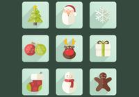 Weihnachten Icon PSD Set