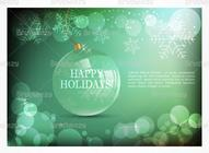 Emerald Holiday Bokeh PSD Wallpaper