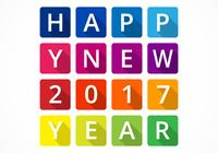 Color Blocked New Year PSD Background
