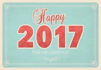Vintages glückliches neues Jahr PSD Tapete