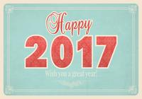 Papel pintado de la Feliz Año Nuevo PSD de la vendimia