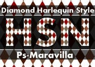 Estilo diamante harlequin
