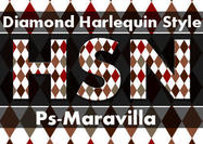 Harlequin-diamond-style