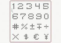 Cross Stitch Number PSD Pack