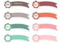 Flower Ribbon Label PSD Pack