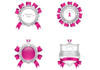 Luxurious Pink and Silver Medal PSD Pack