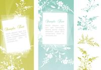 Swirly Floral Banner PSDs and Flower Brush Pack