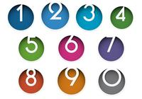 Colorful Number Icon PSD Pack