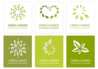 Green Leaf Logo PSD Pack
